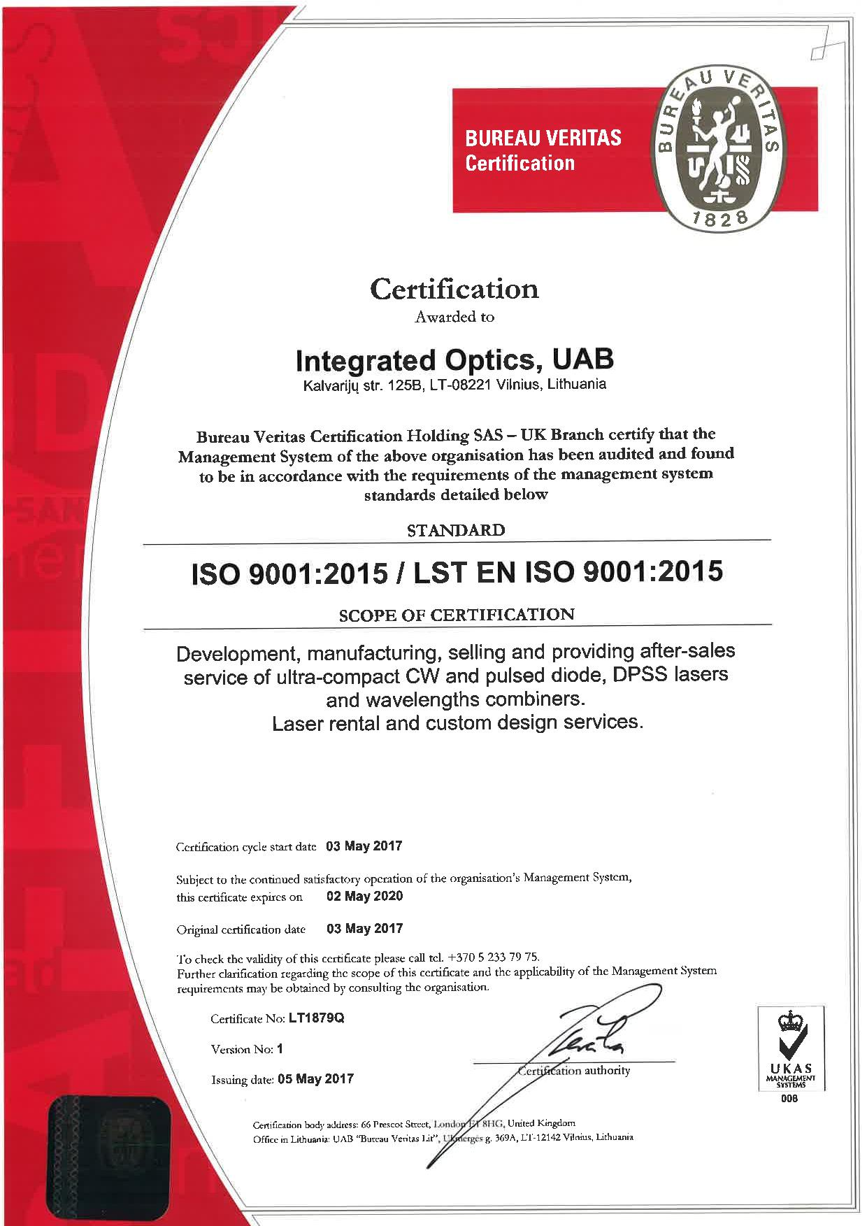 Proud to Announce: We are ISO 9001 Certified! - Cover Image